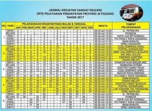 Jadwal Samsat Keliling Padang 2021