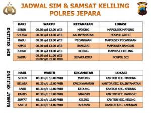 Jadwal SIM Keliling Jepara 2021