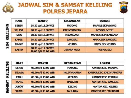 Jadwal SAMSAT Keliling Jepara Februari 2020 - SAMSAT KELILING