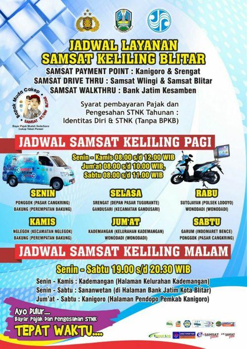 Jadwal SAMSAT Keliling Blitar April 2019