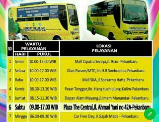 Jadwal samsat keliling pekanbaru oktober 2021