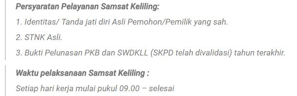Syarat perpanjangan STNK Online Kota Bandung