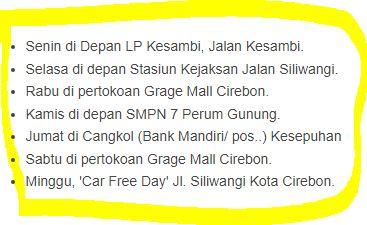 Jadwal SAMSAT Keliling Cirebon Mei 2018