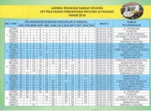 Jadwal SAMSAT Keliling Padang Oktober 2021