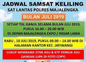 Jadwal Samsat Keliling Majalengka Oktober 2021