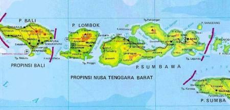 Kode Plat Nomor daerah Bali dan Nusa Tenggara