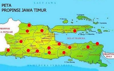 Kode Plat Nomor daerah Jawa Timur