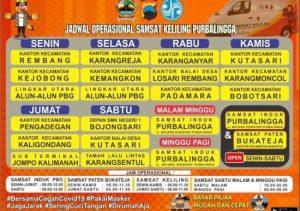 Jadwal SAMSAT Keliling Purbalingga Oktober 2021