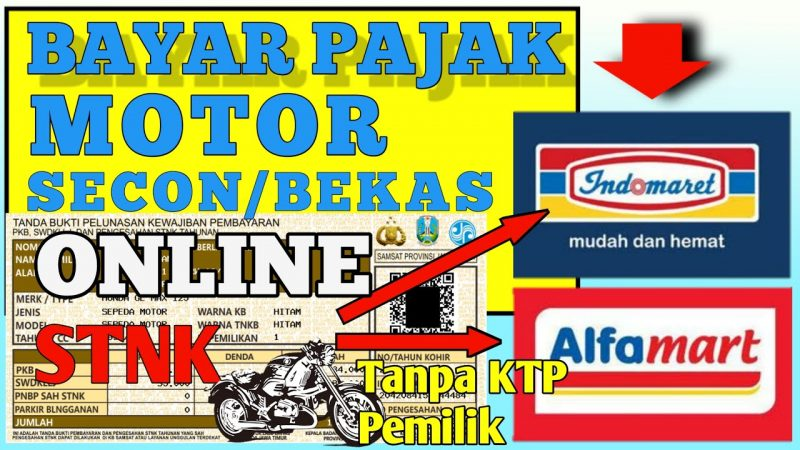 Bayar pajak STNK motor bekas online di alfamart dan indomaret
