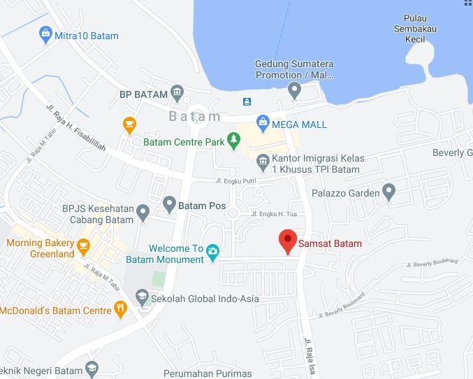 Lokasi SAMSAT Batam dan SAMSAT Keliling Batam