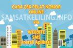 Cara Cek Pelat Nomor Online via Web, SMS, Aplikasi