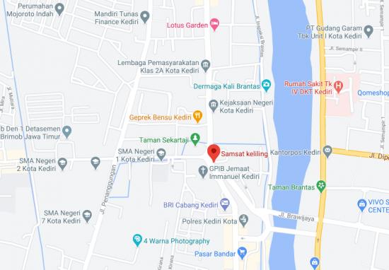 Lokasi SAMSAT Corner Kediri Hari Ini