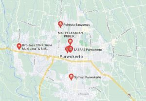 Map Lokasi SAMSAT Keliling Purwokerto dan Banyumas
