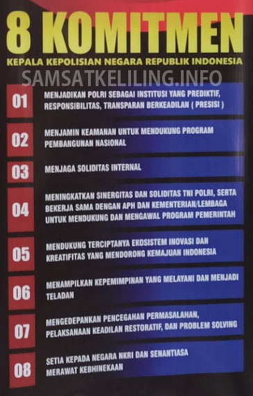 8 Komitmen kepala kepolisian republik Indonesia