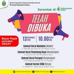 Telah dibuka Bayar Pajak di SAMSAT Kota Medan, Samsat Corner