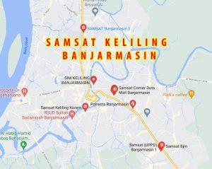 Map Lokasi Pelayanan SAMSAT Banjarmasin
