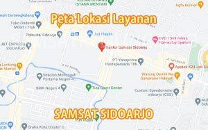 Peta Lokasi layanan SAMSAT Sidoarjo