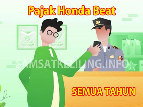 Biaya Pajak Honda Beat Semua Tahun